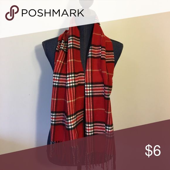 ⭐️NEW LISTING⭐️ Red Plaid Scarf Super soft red Plaid scarf! Will complete any outfit! Remember to bundle and save!  Made of 100% Acrylic Material Accessories Scarves & Wraps