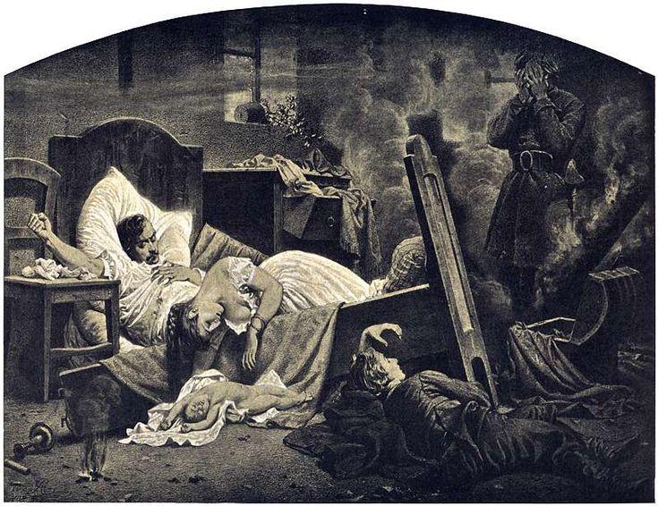 Artur Grottger - Po odejściu wroga 1863