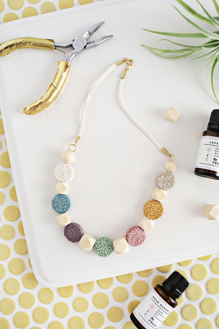 DIY Lava Stone Necklace (for Essential Oils)