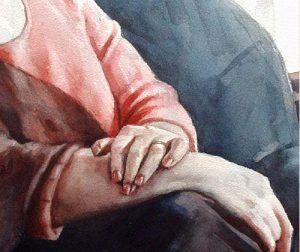 Акварель — портрет женщины До того, как начать рисовать портрет, я на скорую руку набросал карандашные рисунки идеи композиции, затем......