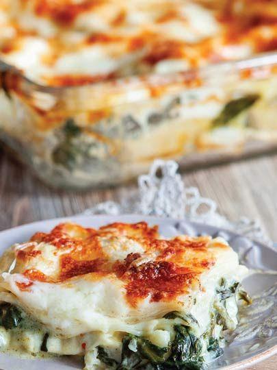 Ispanaklı ve Çerkez peynirli lazanya Tarifi - Hamur İşleri Yemekleri - Yemek Tarifleri