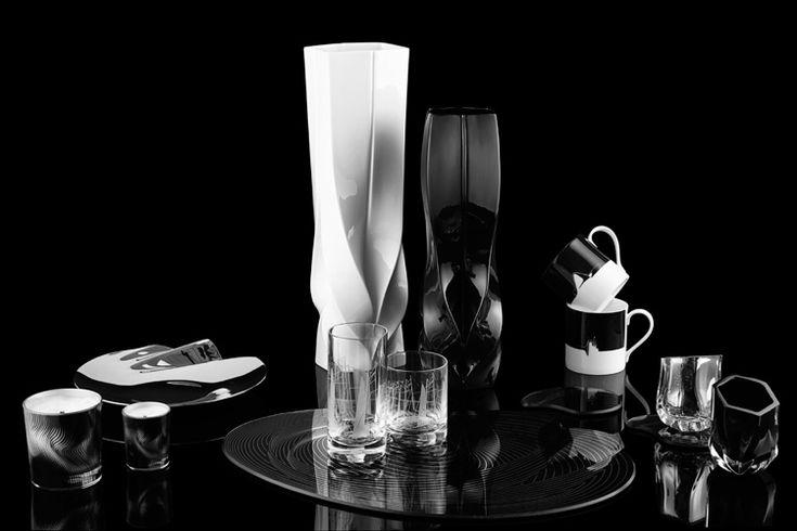 Geschirr Set und Tischdeko in Schwarz und Weiß