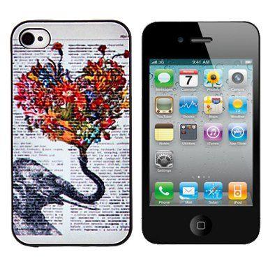 Olifant & Liefde hardcase hoesje voor iPhone 4 / 4S
