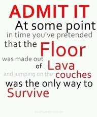 Ha!  Wyatt, Gigi and I do this often!!
