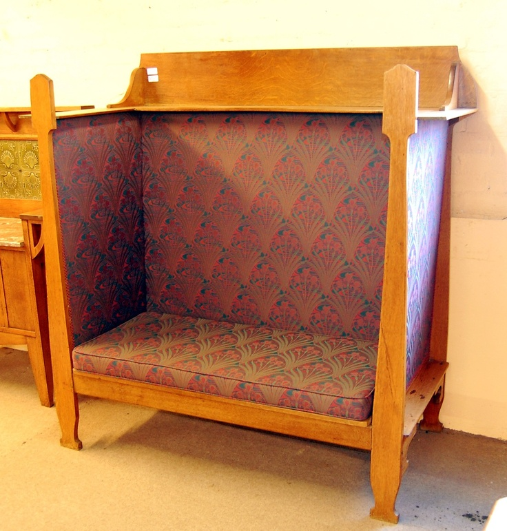 Oak Arts & Crafts settle by Liberty & Co.