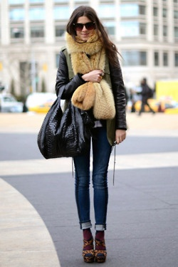 Tight Denim Pants , Street Style Fashion .