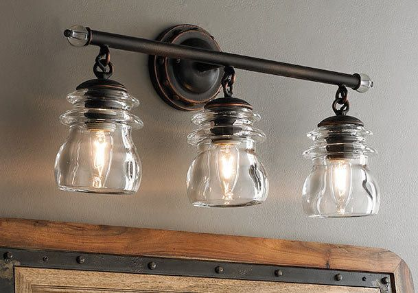 Industrial Chic To Rustic Farmhouse Bath Lights Rustic Bathroom Lighting Farmhouse Light Fixtures Rustic Light Fixtures