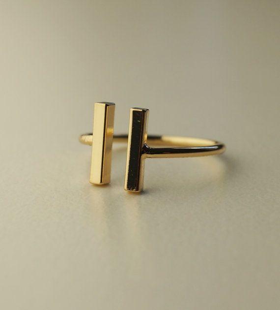 Sieh dir dieses Produkt an in meinem Etsy-Shop https://www.etsy.com/de/listing/463135742/minimalistischer-schmuck-ring-gold-t