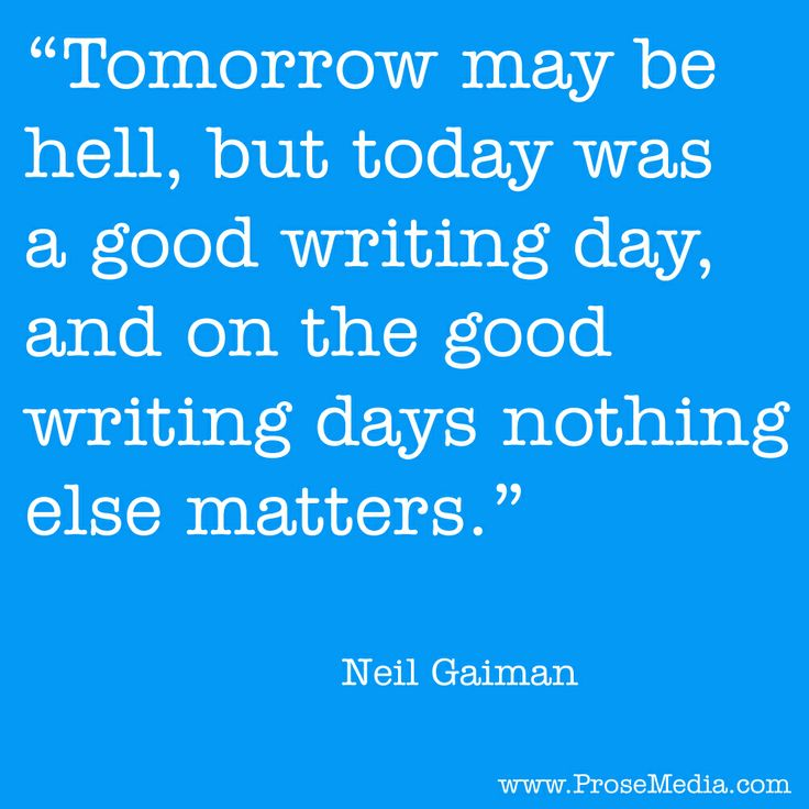 Custom writing tips neil gaiman