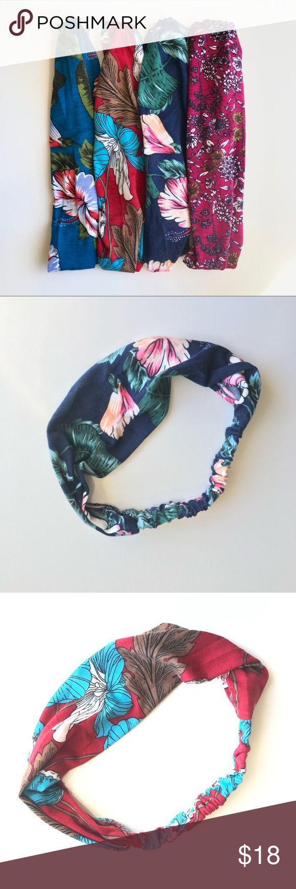 🌳4 Pack floral pattern yoga headbands🌳 Soft and comfortable yoga headbands. 4 pack floral pattern.  Perfect accessory to complete your trendy ou...