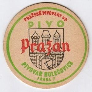 Coaster from Czechoslovakia
