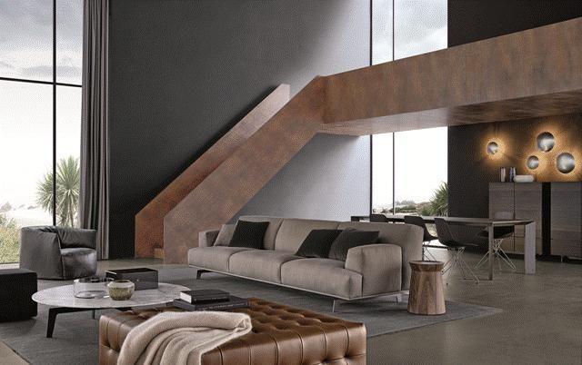POLIFORM: Tribeca sofa, Santa Monica armchair, Tribeca small table and Gant pouf