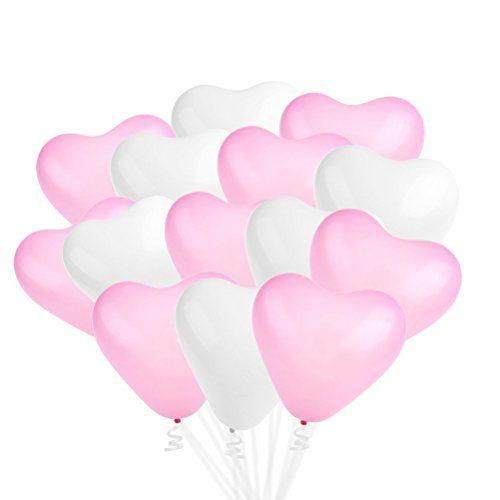 NUOLUX Ballons de coeur,25pcs coeur en forme de ballon pour décoration de fête mariage anniversaire: Parfait pour faire des arc de ballon…