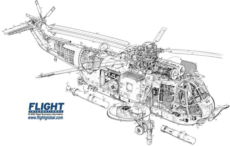 Cutaway Drawing Aircraft 3 View Scale Drawings