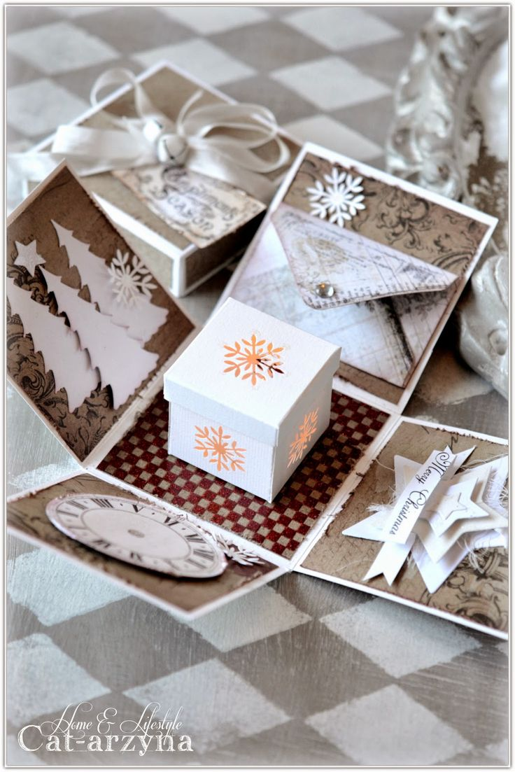 Magic Christmas Boxes Cat Arzyna Exploding Boxes Box