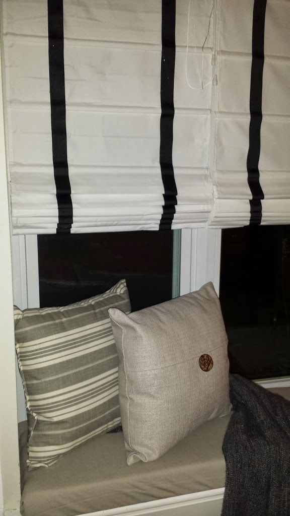 Pottery Barn Window Seat And Roman Shades Knock Off In
