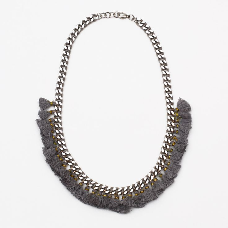 Tangier Grey Necklace by Hermina Wristwear - Project J
