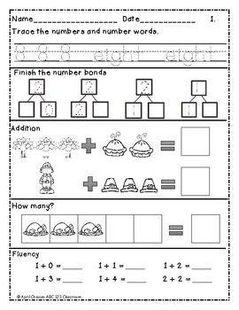 Kindergarten Morning Brain Busters- Bell Ringers / Morning Work / Math & ELA Nov