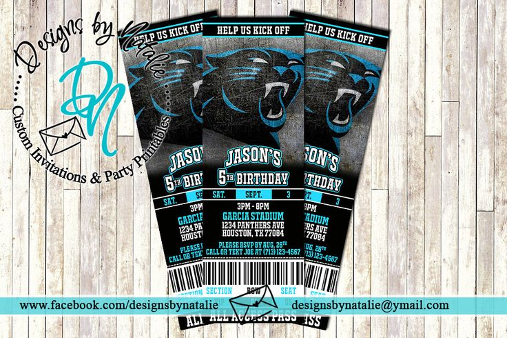 Carolina Panthers Invitation