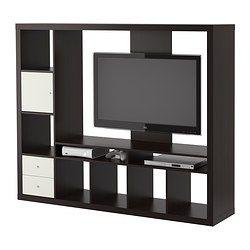 EXPEDIT Meuble télé - brun-noir - IKEA