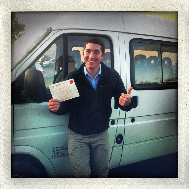 Congratulations Barry! Just passed his minibus driving test with the RSA Driving School! Awesome #rsadrivingschool #drivinglessonsdublin