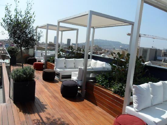 Roof Terrace Barcelona hotels, Pergola lighting, Diy pergola