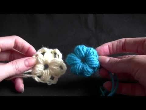 How to Crochet a Puff Stitch Flower ❥Teresa Restegui http://www.pinterest.com/teretegui/❥