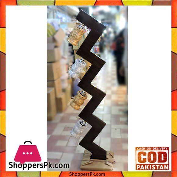 On Sale: High Quality Wooden Floor Lamp Zigzag Style Price Rs. 8100 https://www.shopperspk.com/product/high-quality-wooden-floor-lamp-zigzag-style/