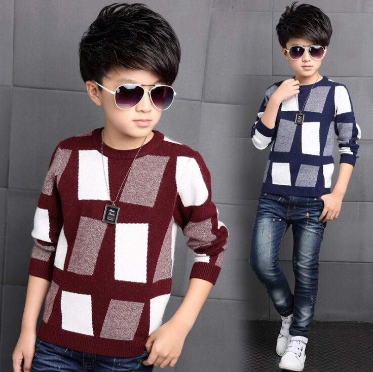 Fashion Boys Sweaters Family Matching Father Son Sweater Clothes Family Clothing Parent-Child Family Set Kids Sweater BY4