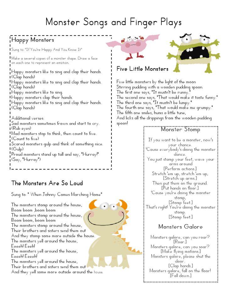 Mrs Home Ec: Monster Lesson Plan