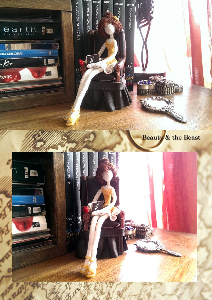 Crochet Bell Beauty And The Beast Leather Armchair Book