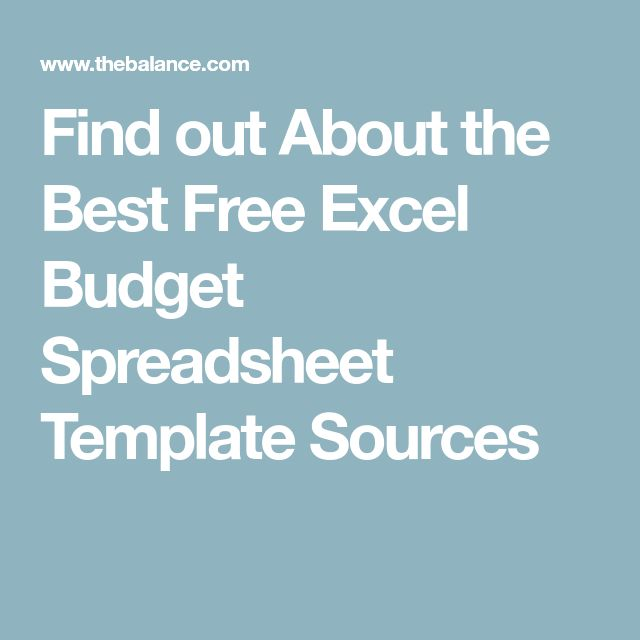 Find out About the Best Free Excel Budget Spreadsheet Template Sources