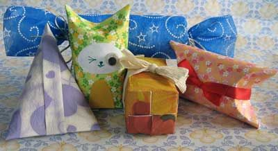 Toilet paper roll gift boxes. Instructions at http://www.bellaonline.com/articles/art12222.asp