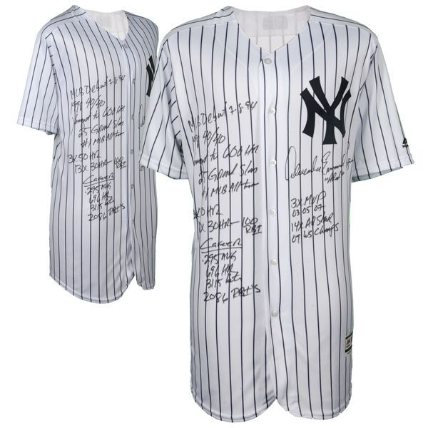 Alex Rodriguez New York Yankees Fanatics Authentic Autographed Majestic Authentic Jersey with Career Stats Inscriptions - Limited Edition of 13 - $1999.99