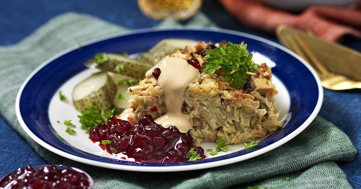 Vegetarisk kålpudding med gräddsås recept