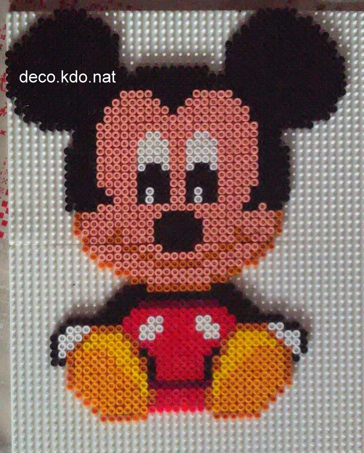 Baby Mickey hama beads by Deco.Kdo.Nat