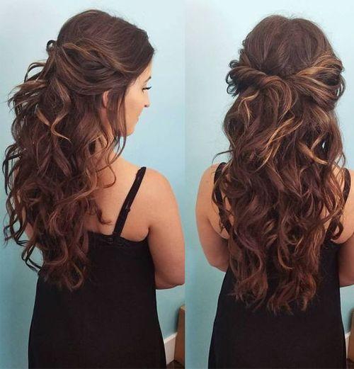 Long Curly Hairstyles For Teenage Girls 2018 Fashion Knots Penteados Cabelo Longo Penteados Lindos