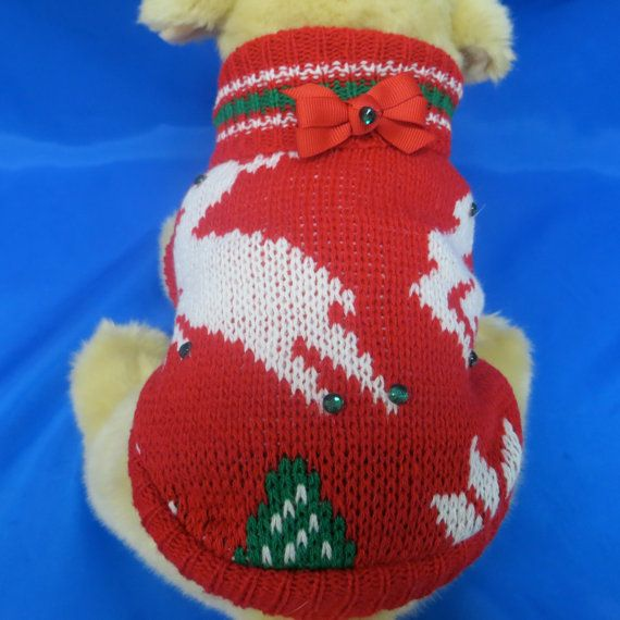 Christmas Pet Sweater Dog Christmas Sweater Pet  by bschackman, $16.00