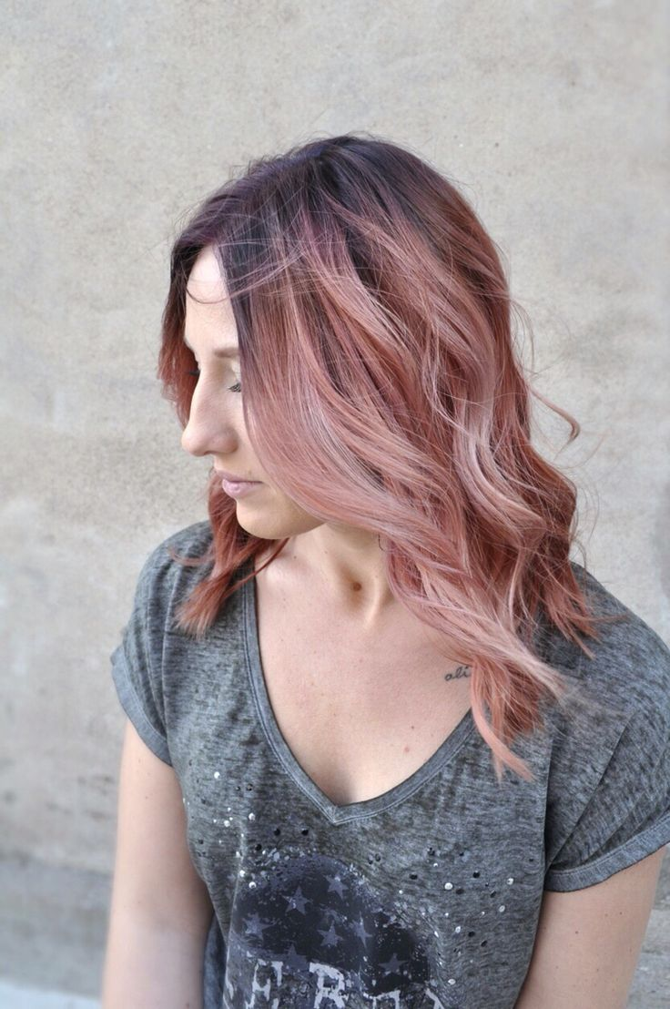 Rose Gold Hair Color Hair Styles Hair Color Dyed Hair