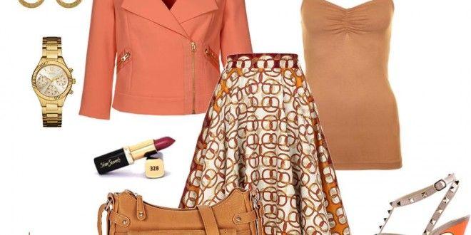Idée de look - Jupe orange Tina Lobondi | Pagnifik