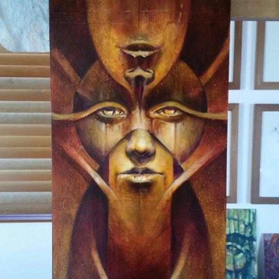Y... nuevas capas para aumentar valores y contraste... #artwork #artstudio #oilonwood #painting #robledoarte