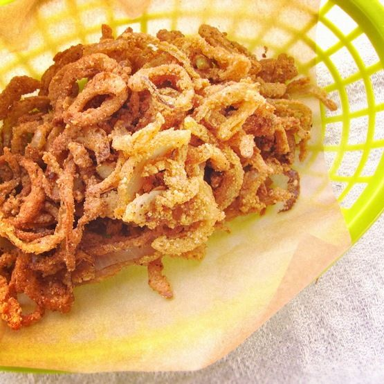 ... about Onion Strings on Pinterest   Onions, Crispy onions and Burgers