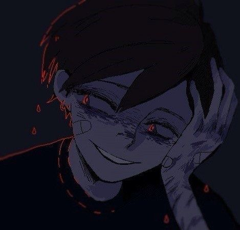 Dark abused anime boy Guro art