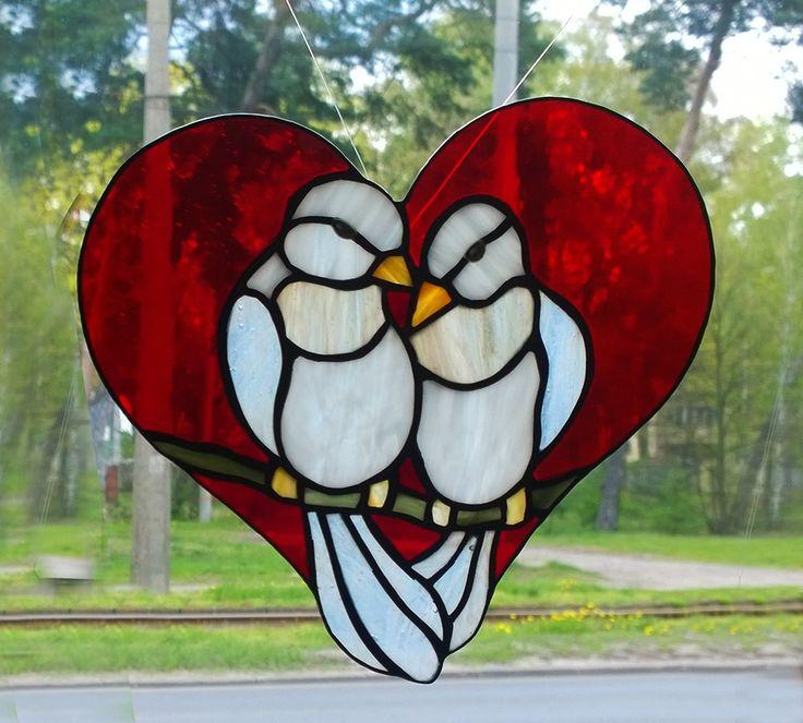 #glassatelier , #polandhandamde , #witraże , #stainedglass , #tiffany . #ptaki
