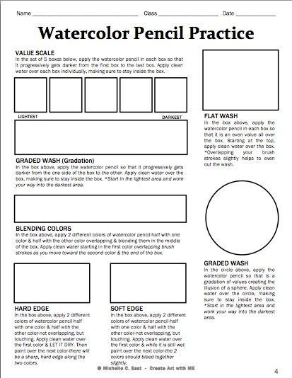 17 Best ideas about Art Worksheets on Pinterest | Color by numbers ...