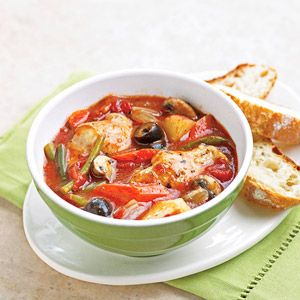 French Chicken Stew Layer this chicken and vegetable stew recipe in your slow cooker and let the delectable aroma greet you when you arrive home to a ready-made meal.