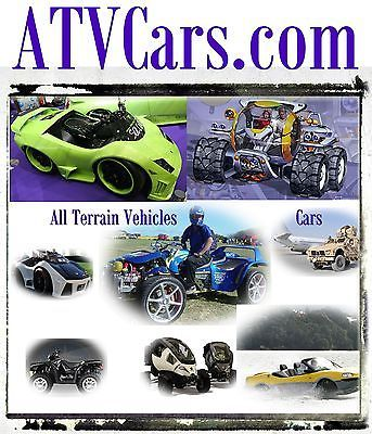 ATV Cars .com Demo Concept Tires Off Road All Terrain Vehicle Cars Domain Name