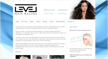 Cool CMS web development for a Bournemouth salon. This web design was to be modern with a clean and simple layout. The background was chosen by the salon to match their brand style.