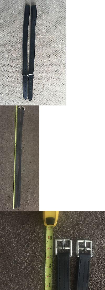 Stirrup Leathers 183380: Australian Saddle Company Black English Leather Stirrup Leathers -> BUY IT NOW ONLY: $50.0 on eBay!