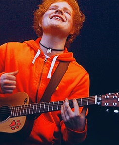 Ed Sheeran Once you go orange & black, you never go back! :): Fingers Round, Bucket List, Edward Christopher, Famous Guitar, Christopher Sheeran 3, Awesomest Singer, Team Edward Sheeran